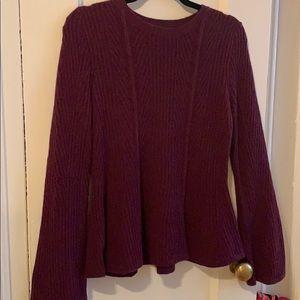 Ann Taylor peplum sweater